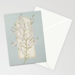 Christmas card with floral  from The Miriam and Ira D Wallach Division of Art Prints and Photographs Stationery Cards