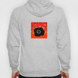 Hole and black flower Hoody