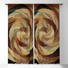 Cinnamon Roll Blackout Curtain