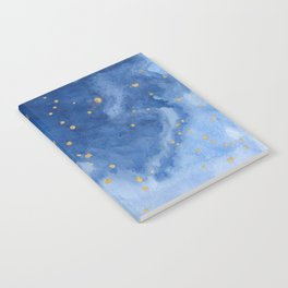 Blue and Gold Starry Night Notebook
