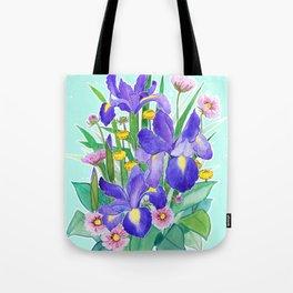 Iris Ikebana Tote Bag