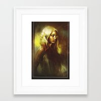 fireflies Framed Art Prints featuring Fireflies by Kittrose