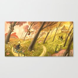 Bike Ride Through The Woods Canvas Print