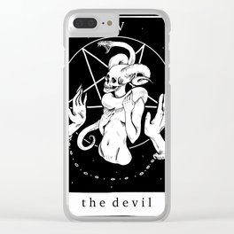 XV The Devil Clear iPhone Case