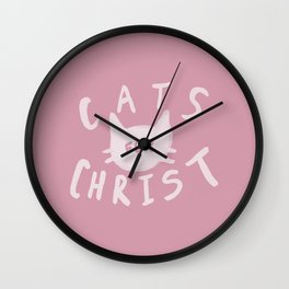 Cats for Christ x Rose Wall Clock