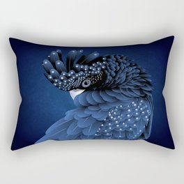 Australian Black Cockatoo Portrait Rectangular Pillow