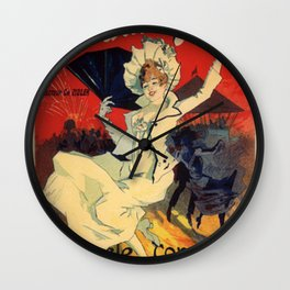 Jardin De Paris F Te De Nuit Bal 1896 By Jules Cheret | Reproduction Art Nouveau Wall Clock