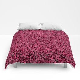Pink Spirals Comforters
