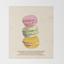 Sweet Macarons Throw Blanket