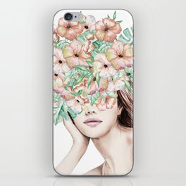 She Wore Flowers in Her Hair Island Dreams iPhone Skin
