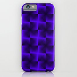 Rotated rhombuses of violet crosses with shiny intersections. iPhone Case