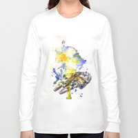 millenium falcon Long Sleeve T-shirts featuring Star Wars Millenium Falcon  by idillard