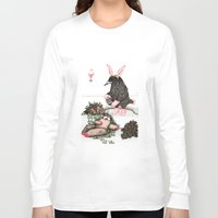 easter Long Sleeve T-shirts featuring Crow Serie :: Easter Crow by Leslie Tychsem