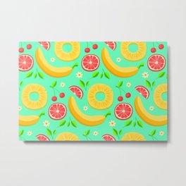 Colorful-Fruits Metal Print