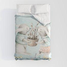 Spring Bunny 4 Comforters