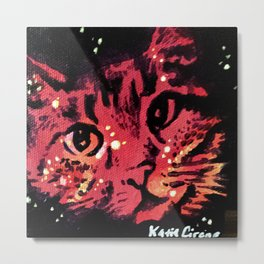 Space Cat 1 Metal Print