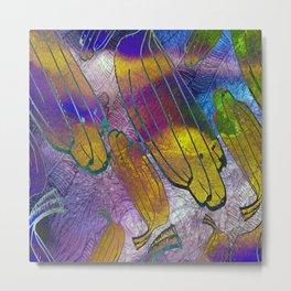 Watercolor textured pattern. Bananas. Metal Print