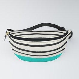Aqua & Stripes Fanny Pack