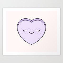 e0ba9f37b0b by kim vervuurt.  165.99 132.79. XOXO Candy Heart - Lilac Art Print