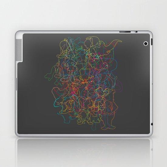 50 cartoon silhouettes Laptop & iPad Skin