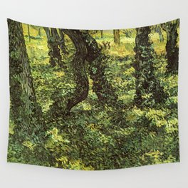 Trunks of Trees with Ivy Vincent van Gogh Wall Tapestry