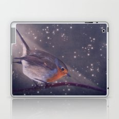The little robin at the night Laptop & iPad Skin