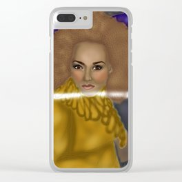 """2 Become 1 """"Scary Spice"""" Clear iPhone Case"""