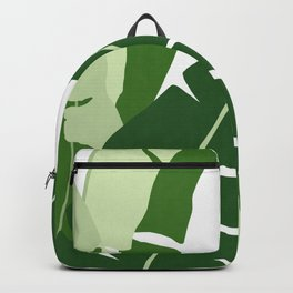 Watercolor tropical leaf XI Backpack