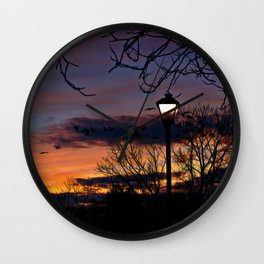 Evening Wall Clock