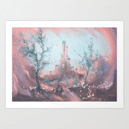 The roseate castle. Art Print