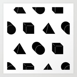 Shapes Pattern Art Print