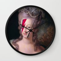 marie antoinette Wall Clocks featuring Marie Antoinette by lapinette