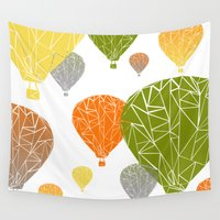 balloons Wall Tapestries featuring BALLOONS by ARCHIGRAF