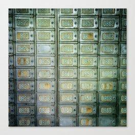 PO boxes Canvas Print