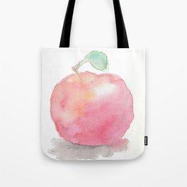 Watercolor Apple Tote Bag