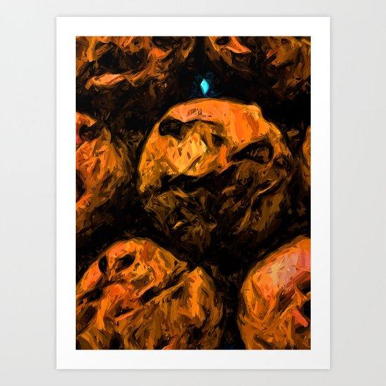 Gold Chocolate Chip Muffins Art Print