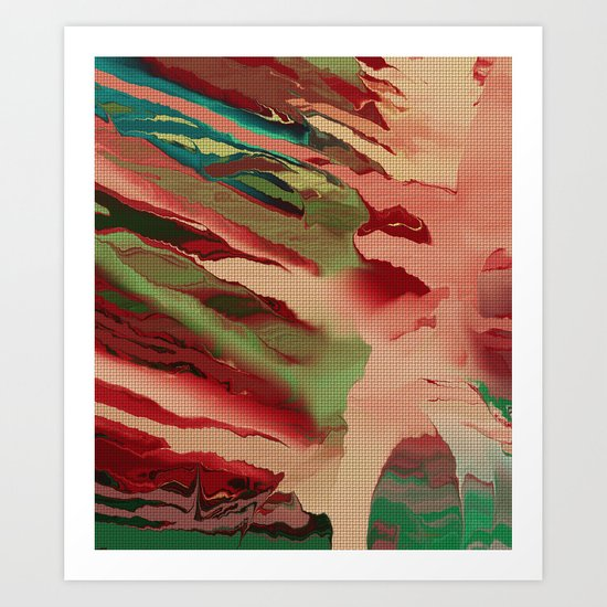 Native Abstract Weave Art Print