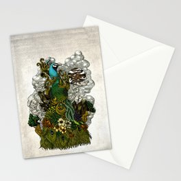 Floral Peacock Stationery Cards