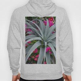 GRACEFUL ARCHING GREY-FUCHSIA FLORAL GARDEN PLANT Hoody