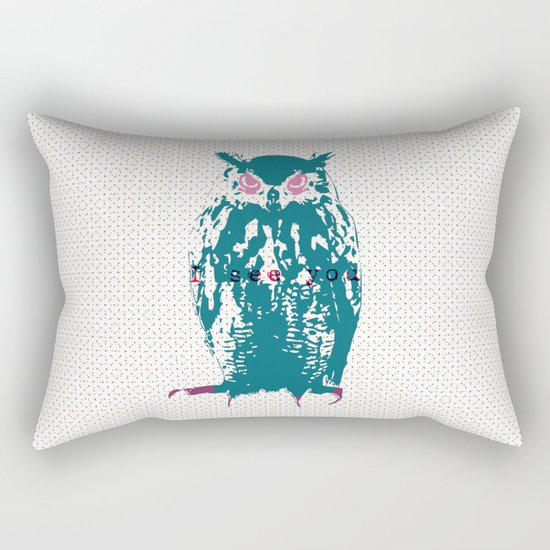 I see You (Lost Time Owl) Rectangular Pillow
