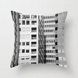Downtown SF (b&w) Throw Pillow