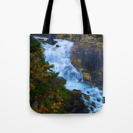 White Falls along the Berg Lake Trail in BC Tote Bag