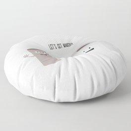 Toilet roll tissue cartoon Floor Pillow