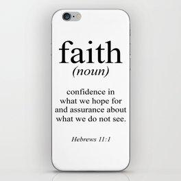 Hebrews 11:1 Faith Definition Black & White, Bible verse iPhone Skin