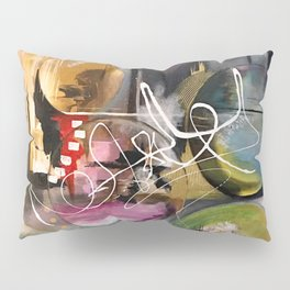 Abstract landscape color bubbles energy memories earth  Pillow Sham