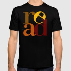 read love MEDIUM Black Mens Fitted Tee