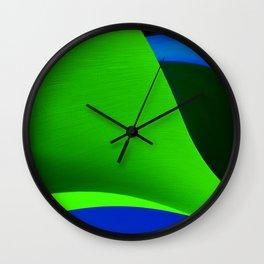 Green Taking Shape Wall Clock