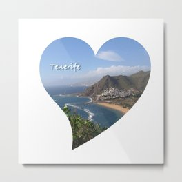 Tenerife Heart Metal Print