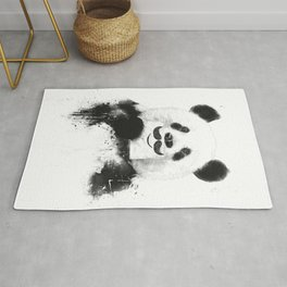 Funny panda Rug