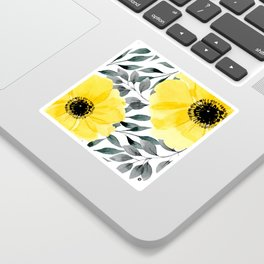 Big yellow watercolor flowers Sticker